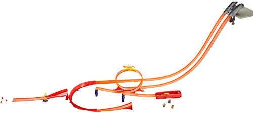 Hot Wheels Y0276 Track Builder Super Track Pack Rennbahn, Trackset mit Looping -