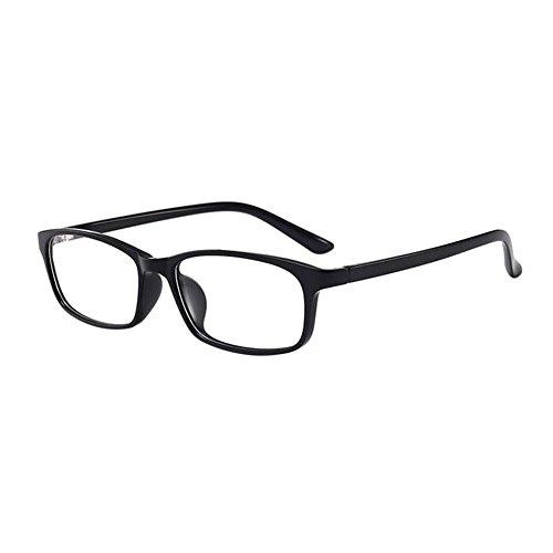 Hzjundasi Unisex Ultraleicht Negativ Stärke Kurzsichtigkeit Brillen Anti-Strahlung Beiläufig Voll Rahmen Kurzsichtig Brille (Power -0.5, Schwarz) (Diese sind nicht Lesen Brille)