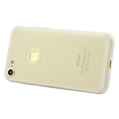 iPhone 8 Plus Hülle, Fraelc [Reine Farbe Serie] Schutzhülle Ultradünn Weich Flexibel Silikon TPU Bumper Cover Kratzfest Handyhülle Taschen für Apple iPhone 7 Plus / iPhone 8 Plus (5,5 Zoll) - Matt Bla Transparent