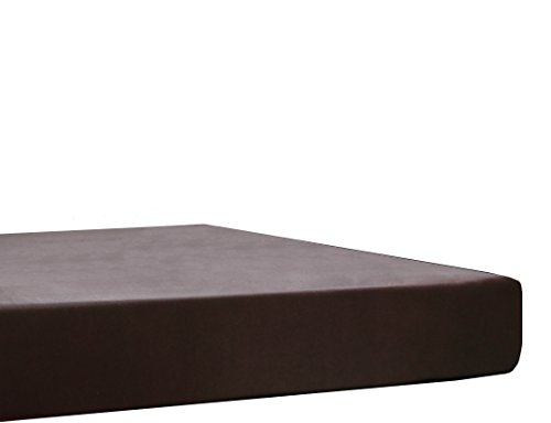 Blanc des Vosges Uni Jersey Drap housse extensible Coton Ebene 180 x 200 à 200x220 cm