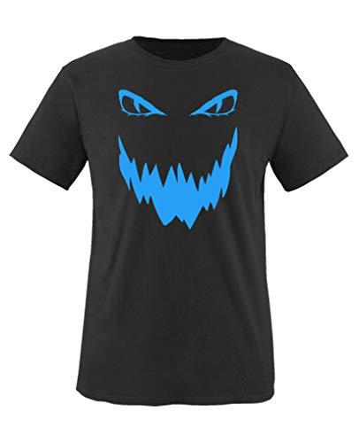 Comedy Shirts - Boese Fratze - Halloween - Jungen T-Shirt - Schwarz/Blau Gr. 152-164