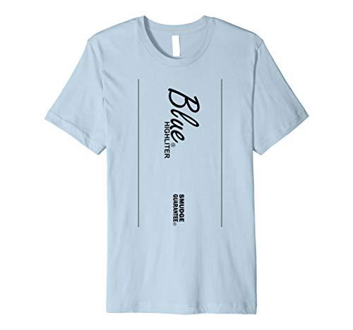 Blau Textmarker Stil Halloween-Kostüm T-Shirt