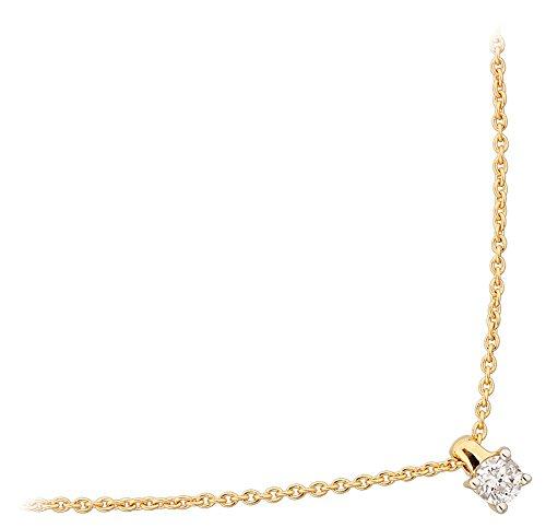 Orleo - REF10704BB : Collier Femme Or 18K jaune et Diamant - 0.14 carat
