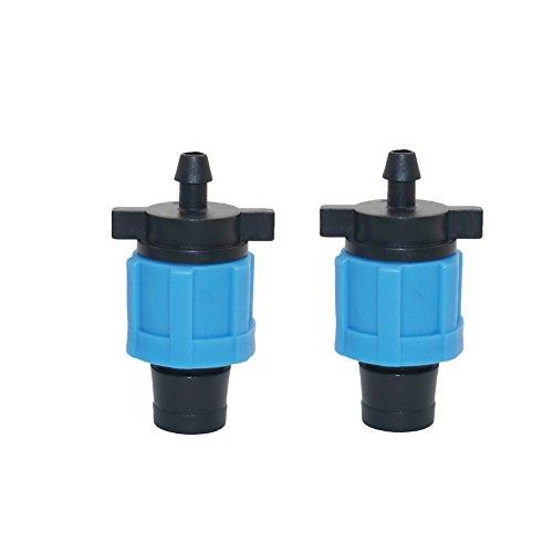 'adhere to Fly Lot de 20 5/8 irrigation goutte tuyauterie Raccord de tuyau d'eau Lock Off Take ne goutte Ruban adhésif 6 mm