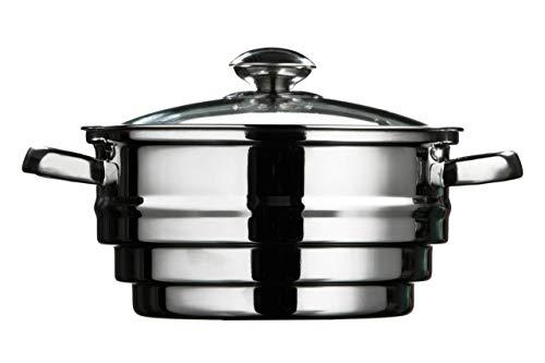 Premier Housewares Vaporera, Acero Inoxidable, 21 cm