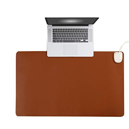 LILI-SM Elektrische Heizung Tischset, Heizung Tischset Heizung Hand Warm Mouse Pad, Schreibtisch Heizung Pad (24V Security Upgrade) (Color : Brown) -