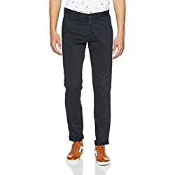 Arrow Sports Men's Straight Fit Casual Trousers (ARGT5705_34W x 34L_Navy)