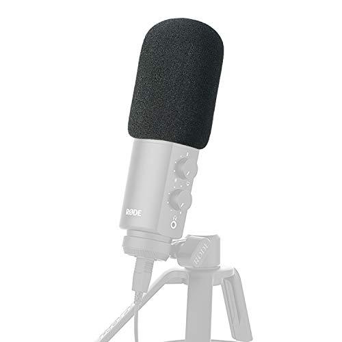 YOUSHARES Microphone Mousse Couverture de Pare-Brise Cover Pop Filtre et protecteur pour Rode NT-USB Condenser Microphones (Noir)