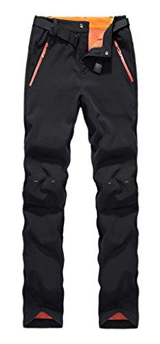 Geval Outdoor coupe-vent Softshell Polaire Pantalons de neige de femme Noir