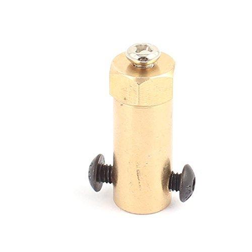 Deal Mux 30 mm x 5 mm Trou laiton Moteur Pneu de Joint Hex Raccords électriques or ton