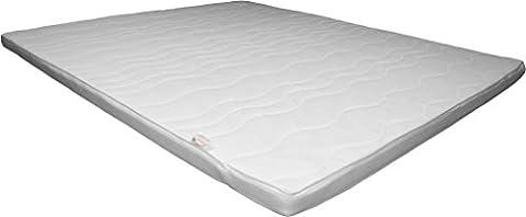 XL H2 Topper Matratzenauflage 180x200 Kaltschaum mit Bezug versteppt 10cm - Schlafen wie auf Wolken