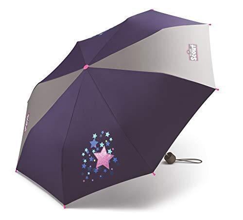 Scout Kinder Regenschirm Taschenschirm Schultaschenschirm mit großen Reflektionsflächen extra leicht Sweet Stars