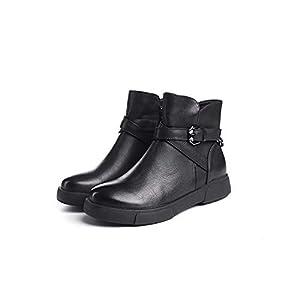 Top Shishang Frauen Leder lässig flach unten seitlicher Reißverschluss Martin Stiefel Chelsea Stiefel und Stiefeletten westlichen Stiefeletten
