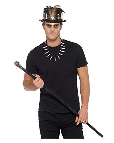 Horror-Shop 3-TLG. Voodoo Kostümzubehör Set für Halloween Verkleidungen