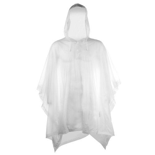 Splashmacs Unisex Regenponcho / Regencape für Erwachsene Einheitsgröße,Klar