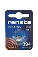 Renata SR936SW Model 394 Silver Oxide 1.55V Watch Battery