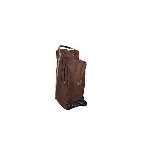 netproshop Reitsport Unisex Kombination Reitstiefel- und Helmtasche in Einem, Farbe:Braun