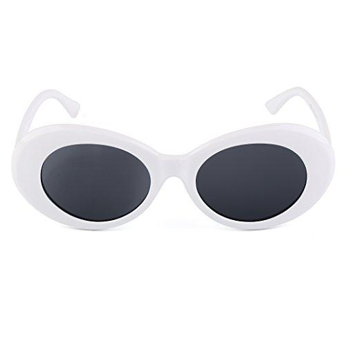 MIOIM® Sonnenbrille Damen Herren UV400 Vintage Retro Runde Brille Mode Verspiegelt Sunglasses