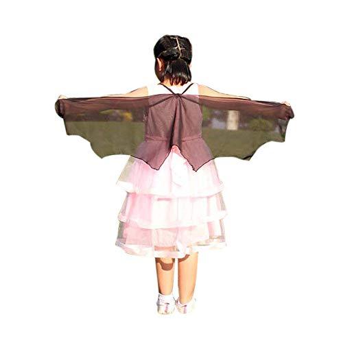 ZEELIY Weicher Schmetterling Flügel Schal Märchen Cosplay Pfau Schal süß Elf Bekleidungszubehör Kind Junge Mädchen Böhmischer Schmetterling Print Schal Kleid Zubehör