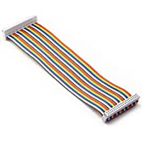REES52 40pin Male to Female GPIO Ribbon Cable Compatible with Raspberry Pi 3B+ 3 2 Model B B+