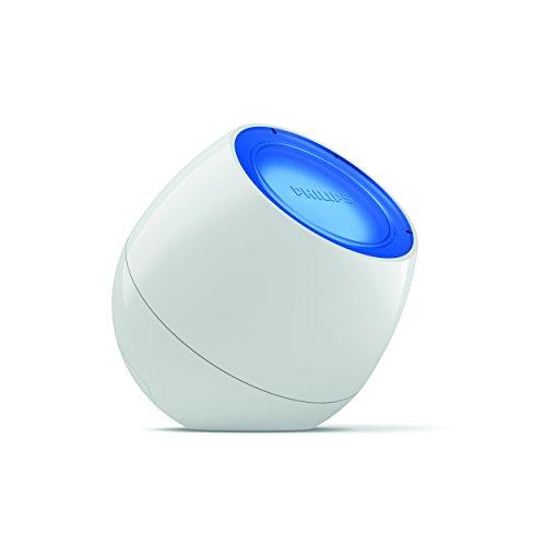 Philips LivingColors Sound - lámpara LED de mesa, Luz de ambiente, ligera y portátil, sincroniza tu luz con la música, color blanco