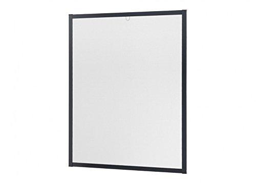 Insektenschutz Fliegengitter Fenster Alurahmen Master Slim weiß, braun oder anthrazit in verschiedenen Größen - Große, Flache Rahmen