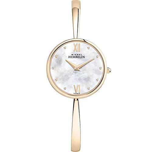 Michel Herbelin Women's 31mm Steel Bracelet & Case Quartz Watch 17418/BPR19