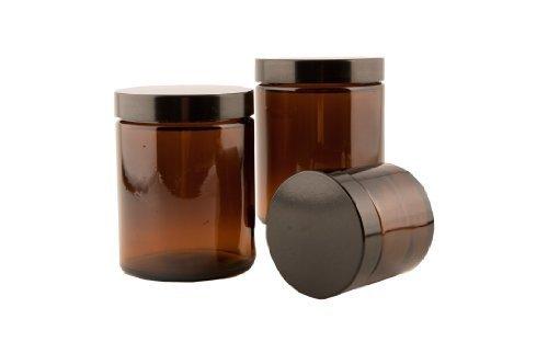 Ambre Pommade en pot 30ml en verre et couvercle noir x 20