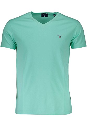 GANT Herren The Original Fitted V-Neck T-Shirt VERDE 347