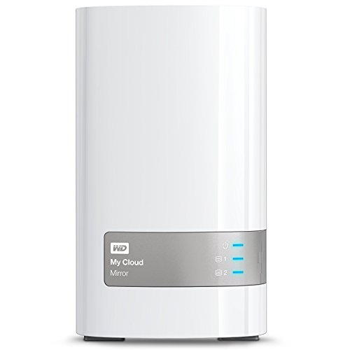 Western Digital 8TB (2x4TB) My Cloud Mirror Gen 2, NAS 2 Bay, Persönlicher Cloud Speicher, Media Server, Backup, Handy und Tablet Sicherung, Syncronisations Software