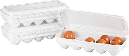 Kigima Eierbox für 10 Eier 3er Set weiß