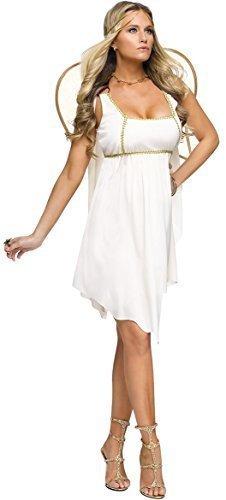 Fancy Me Damen Sexy Golden Angel Griechische Göttin Venus Aphrodite Weihnachten Krippe Verkleidung Kostüm Outfit - Weiß, 10-12 (Engel Krippe Kostüm)