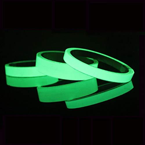 Encoco, nastro adesivo luminoso da 1 m di lunghezza, rimovibile, impermeabile, fotoluminescente, si illumina al buio, 3 pezzi, 3 colori 5 * 100cm