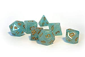 dice4friends DIC86045 - Dados con Efecto Boreal, Color Azul