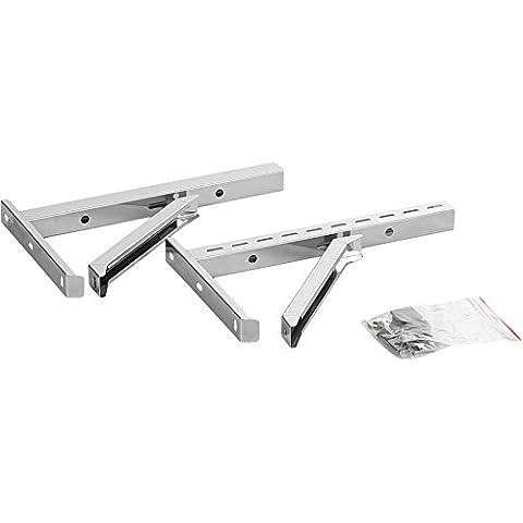 Acciaio Designer ADT camino a parete universale lunghezza staffa 500 mm in acciaio inox spazzolato opaco