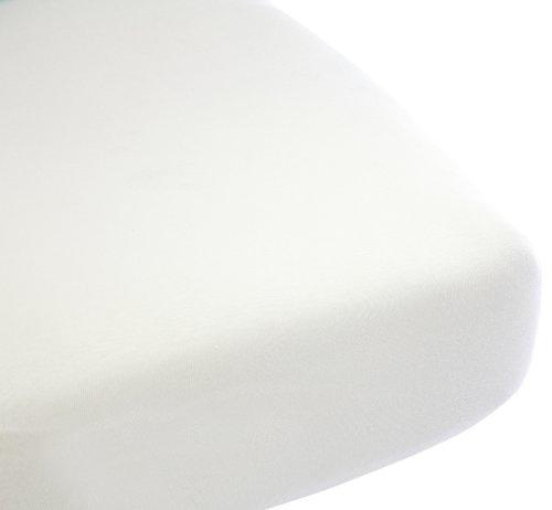 Babysun Nursery Drap Housse Jersey Extensible 100% Coton Blanc 40 x 80 cm