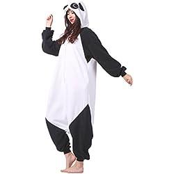 Magicmode Unisex Cosplay Disfraces De Animales Kigurumi Pijamas Adultos Enterizo Anime Sudadera Con Capucha Ropa De Dormir Panda M
