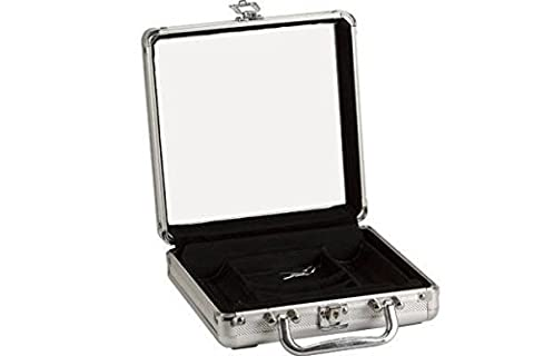 StealStreet SS-CQG-2731CASE 100 Piece Aluminum Locking Poker Chip Case with Clear Acrylic Lid