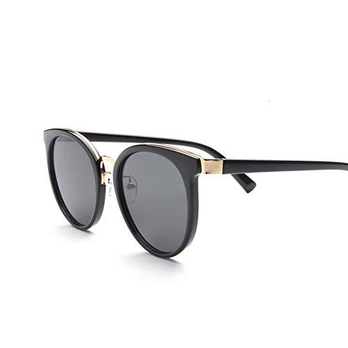 Yuanz Damen cat Eye Sonnenbrille Frauen Marke Mode Sonnenbrille für Frauen schwarz Rahmen rosa Spiegel Sonnenbrille weibliche uv400,W