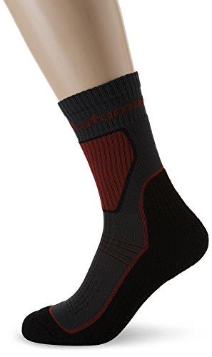 Lafuma Fastlite Double Chaussettes hautes de trekking Mixte, Noir/Gris/Rouge FR : 35-38 (Taille Fabricant : 35-38)