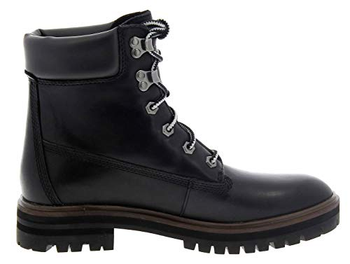 Timberland A1RCH Black Yellow Shoes Woman Leather Boots prem London Square 6in  5 5 UK