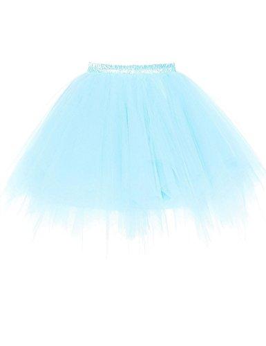 RuiyuhongE Frauen 1950er Jahre Vintage Short Petticoat Ballett Bubble Tutu Rock (XXL, Baby Blau)