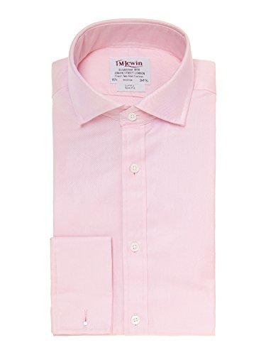 tmlewin-camisa-casual-basico-cutaway-manga-larga-para-hombre-rosa-rosa