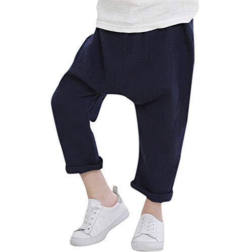 Bundhosen Kostüm - Alwayswin Kinder Jungen Mädchen Freizeit Hosen Kinderhose Casual Baumwolle Hosen Pluderhosen Anti-Mücken Plissee Hosen Einfarbig Atmungsaktiv Hosen Einfach Mode Hosen Elastische Hose