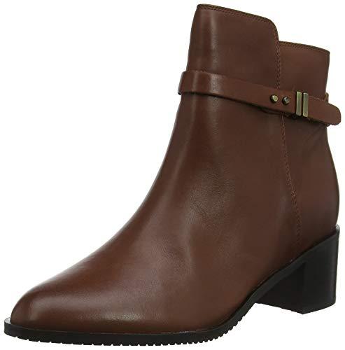 Clarks Poise Freya, Botines para Mujer, Marrón Mahogany Leather Mahogany Leather, 39 EU