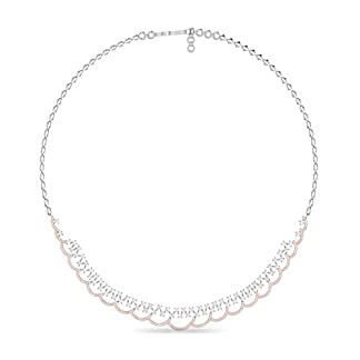 PC Jeweller The Moore 18KT White Gold and Solitaire Necklace for Women