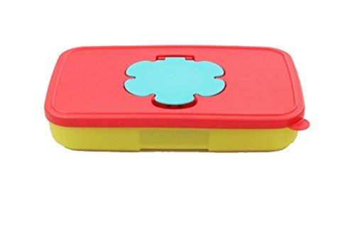 TUPPERWARE Feuchttücherbox Kinder 650 ml flach limette erdbeerrot Baby Box 31253