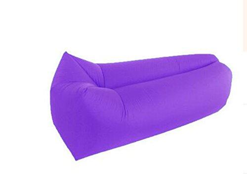 L&ZR Aufblasbare Lounger Air Sofa Hängematte-Portable Aufblasbare Couch Air Lounger Mit Tragbaren Paket Air Chair Für Camping Reisen Picni Pool Wandern - Tür Bag Bean