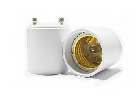 Lugii Cube Couramment utilisé Gu24vers E26/E27Adaptateurs–convertit Pin Base Fixation (Gu24) au standard à visser Douille d'ampoule