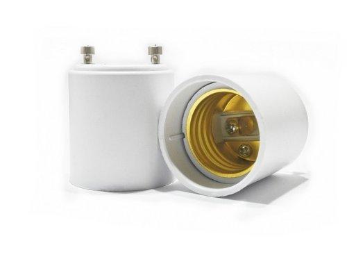 Prong Ac Adapter Power Cord (Lanlan gebräuchliche GU24zu E26/E27Adapter–Konvertiert Pin Sockel Fassung (GU24), um Standard schraubbaren Fassung)